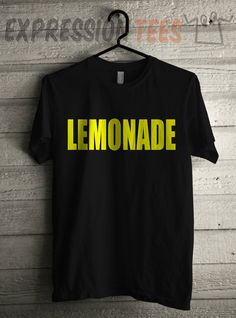 Men's YELLOW Lemonade Shirt Printed Unisex Adult Formation Graphic T-Shirt #1389 by Expression Tees Trending Clothing / Apparel USA Seller
