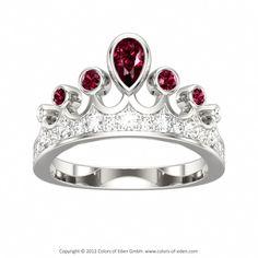 Garnets and Diamonds Tiara Ring #gold #tiara #ring