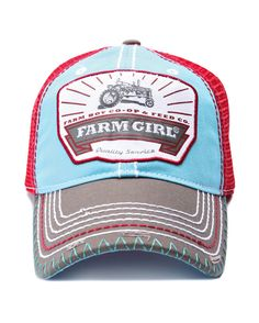 Farm Boy & Farm Girl Women's Farm Girl Buckle Up Mesh Cap  http://www.countryoutfitter.com/products/55788-womens-farm-girl-buckle-up-mesh-cap