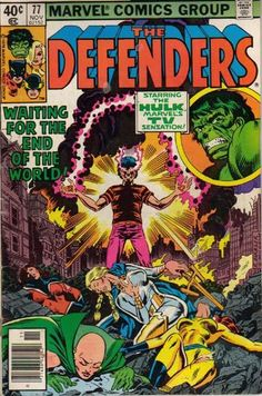 A cover gallery for the comic book Defenders Marvel Comics Superheroes, Marvel Comic Books, Marvel Art, Marvel Characters, Marvel Heroes, Comic Books Art, Comic Art, Hulk Marvel, Book Art