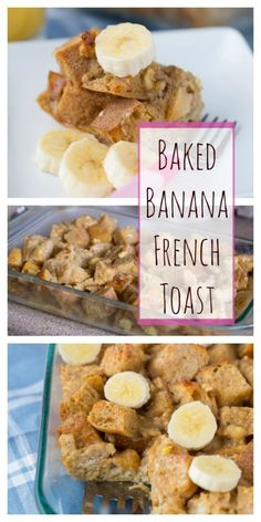 Baked Banana French Toast with cinnamon, yum!  Warm and comforting with the perfect amount of sweetness for a balanced breakfast.