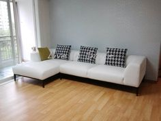Max 2631 - L-Shape white leather sofa Furniture, Living Room, Bed Bench, Sofa, Home, Sofas, White Leather Sofas, Sectional Couch, Room