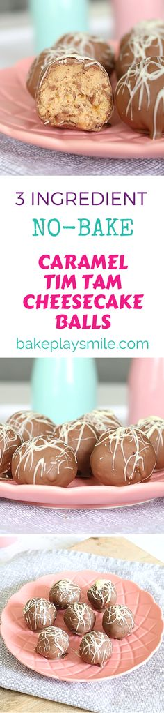 These Caramel Tim Tam Cheesecake Balls are completely no-bake, take only 5 minutes to make and you only need 3 ingredients!