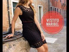 "VESTITO UNCINETTO ""MARIBEL"" - YouTube Crochet Socks, Crochet Shawl, Crochet Clothes, Crotchet Dress, Photo Pattern, Crochet World, Crochet Videos, Crochet Bikini, Summer Outfits"