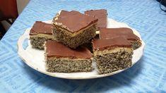 Mohnkuchen mit Vanillecreme und Schoko 3
