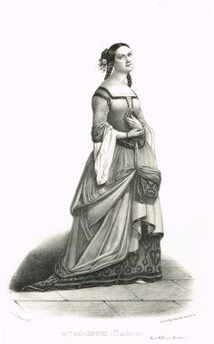 Madame MÉLINGUE - Rosaline-Théodorine Thiesset (1813-1886) - sociétaire de la Comédie Française - d'après Alexandre Lacauchie - 1841 - MAS Estampes Anciennes - Antique Prints