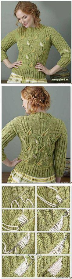 Шикарный пуловер *Gladioli* от Emma Vining...<3 Deniz <3