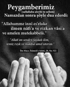 #hadis  corek-otu-yagi.com   (S.A.V) Duaa Islam, Allah Islam, S Word, Quran, Religion, Prayers, Life, Muhammed Sav, Instagram