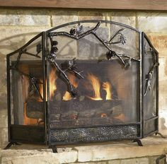 The fireplace has traditionally been the heart of the rustic home for centuries. Description from store.furniturehomedesign.com. I searched for this on bing.com/images