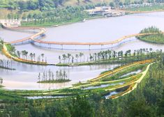 Turenscape's regenerative wetland park cleans up a post-indust...The 222-acre project thus removed the concrete river embankment to make way for the restoration of the natural riverbank and waterways, which were integrated into a stormwater management and ecological purification system.  Turenscape's regenerative wetland park cleans up a post-industrial landscape in China Liupanshui Minghu Wetland Park by Turenscape