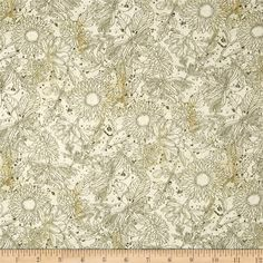 Vintage Garden Toile Cream from @fabricdotcom  Designed by Jo Moulton and licensed to Wilmington Prints, this cotton print fabric is perfect for quilting, apparel and home decor accents. Colors include tan, cream, and shades of green.