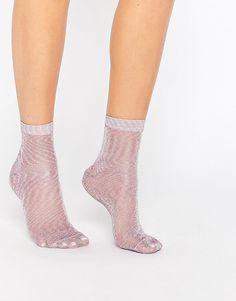 Imagen 1 de Calcetines tobilleros con purpurina de ASOS