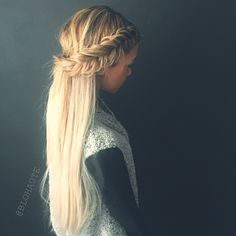 Lace Dutch fishtail braid! @blohaute www.blohaute.com