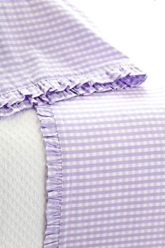 #PineConeHillOutlet Gingham Petite Lilac Sheet Set