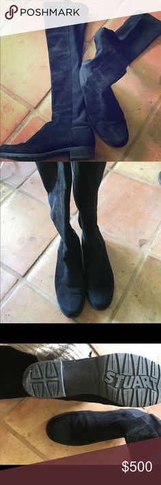 Stuart Weitzman 50/50 suede boots Worn twice, great condition Stuart Weitzman 50/50 suede boots. Stuart Weitzman Shoes Over the Knee Boots
