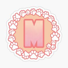 LETTER M PAW Stickers | Redbubble