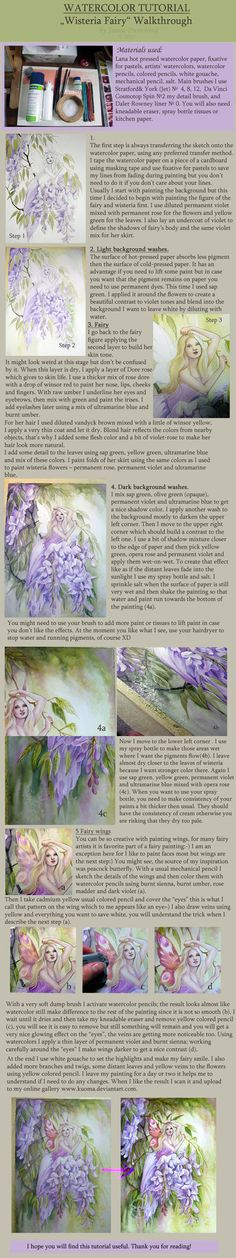 Watercolor Tutorial 2 by *Kuoma