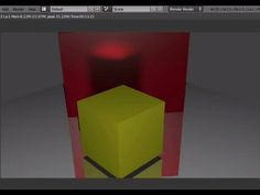 Tutorial Blender 3D 2.5 - Corso di base - 40: oggetti riflettenti; i riflessi con Mirror - #Blender #CorsoBlender #LezioniBlender #Materials #Mirror #Options #Raytrace #Redbaron85 #Riflessi #Videotutorial http://wp.me/p7r4xK-bC
