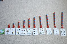 Here's another great idea for counting and number matching.