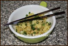 Gebakken rijst met kip en groene curry | Het Glutenvrije Kookhoekje