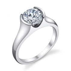 Diamond Engagement Ring (#mtg18w) - Engagement Rings Solitaire - Designer Engagement Rings, Fine Jewelry & More. Serving San Carlos, Redwood City, Belmont, Foster City, San Mateo & the entire bay area.