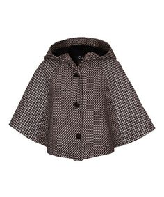 Look what I found on #zulily! Black Square Asher Cape - Infant by A for Apple #zulilyfinds