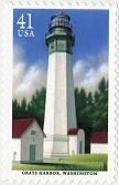 Grays Harbor, Washington Lighthouse. 2007 U.S. postage stamp.