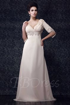 Tbdress.com offers high quality Beaded Half Sleeve Sheath Mother of the Bride Dress Latest Mother Dresses unit price of $ 157.99.