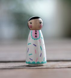 Custom Peg Doll Cupcake Sprinkles Peg Doll Custom Family   Etsy Girl Cupcakes, Cupcake Cakes, Non Toxic Paint, Lilac Color, Themed Cakes, Girl Dolls, Sprinkles, Cake Toppers, Ornaments