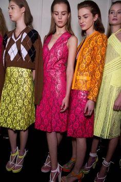 #Runway #Models #Neon #Pink #Orange #Green #Yellow #Lace #Backstage #Style #Fashion #BiographyInspiration