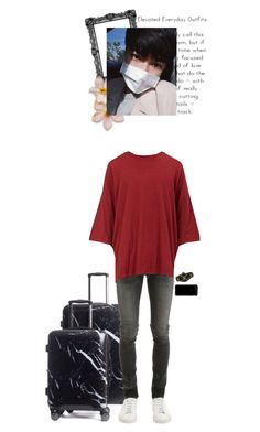"""""""Taegi _ Moving Into The Dorm / Im4ge"""" by purrfectas ❤ liked on Polyvore featuring CalPak, April 77, Unravel, Gucci, Speck, men's fashion and menswear"""