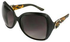New Jackie O Style Plastic Frame Sunglasses. Matte Black / Tortoiseshell with 100% UV Protection Gradient Lens. 31743TT-MIX Edge I-Wear. $8.95