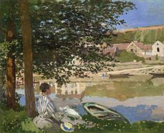 """Claude Monet (1840-1926), """"On the Bank of the Seine, Bennecourt"""" - The Art Institute of Chicago ~ Chicago, Illinois, USA"""