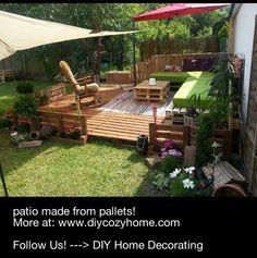 Pallet patio