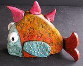 orange fish Penny Dobson etsy