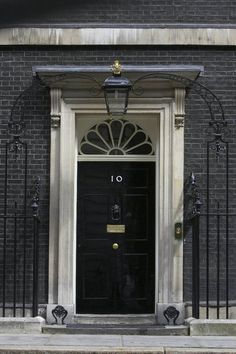 A black door projects strength, sophistication and authority.