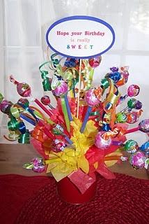 DIY candy arrangement