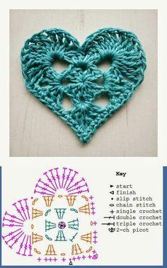 Crochet Heart Diagram