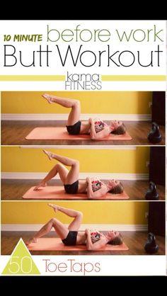 Ten Minutes Before Work Butt Work Out #Health #Fitness #Trusper #Tip