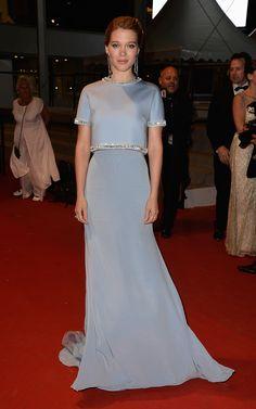 Lea Seydoux in Miu Miu - Cannes Film Festival 2015: Red Carpet   Harper's Bazaar