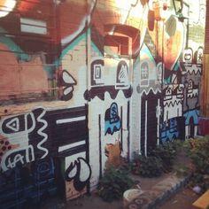 Graffiti by Dinar at 303 Board Shop.   #DenverGraffiti