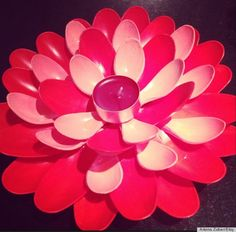 plastic spoon flower - centerpiece