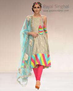 Chooridar with flair.