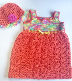I'm selling Toddler's Orange and Multi Sundress and Matching Hat - $35.00 #onselz