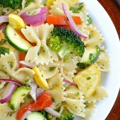 Summer Vegetable Pasta Salad (exchange with whole wheat pasta to make it clean!)