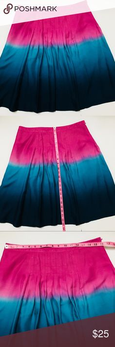 Nine West A-line Full Multicolored Skirt Pink This is very fun Skirt. Tue to size. Size 8. In very good condition. Pre loved. Nine West Skirts Midi