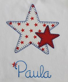 conjunto-bebe-marinero-estrella Freehand Machine Embroidery, Machine Embroidery Designs, Hand Embroidery, Hand Applique, Applique Patterns, Quilting Projects, Sewing Projects, Crochet Flower Patterns, Sewing Accessories