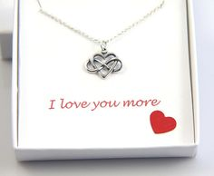 Infinity Necklace Heart Infinity Necklace Sterling by JewelleryJKW