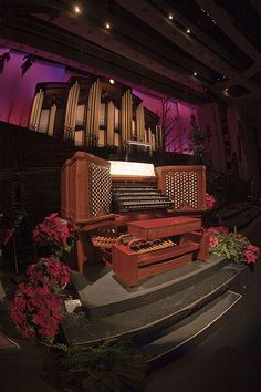 Conference Center Organ with Pipes in the background.