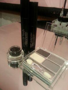 Smokey Eye Kit.  Charcol Eyeshadow.  Gel Eyeliner.  Lash Extender. Intense Lash Mascara